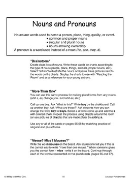 Nouns and Pronouns