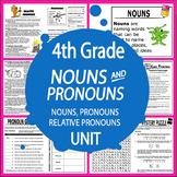 Nouns and Pronouns Activities + 3 Lessons, Posters, Nouns & Pronouns Worksheets