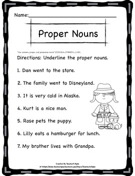 Nouns and Pronouns for First Grade Bundle