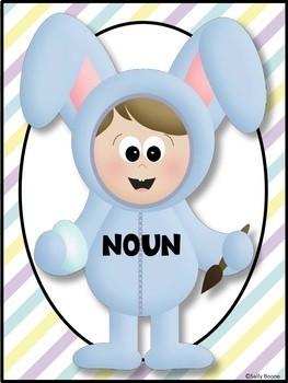 Nouns and Pronouns Literacy Center - Easter Theme