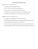 Nouns and Pronouns Review Worksheet