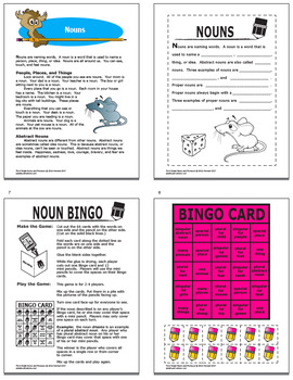 Nouns & Pronouns Activities + 4 Lessons, COLOR Game, Nouns & Pronouns Worksheets
