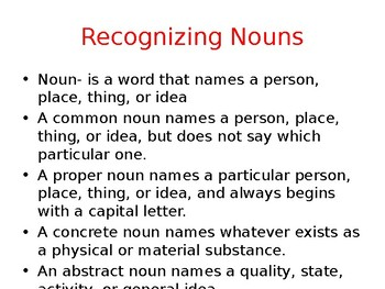 Nouns and Their Uses