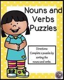 Noun and Verb Sort | Nouns and Verbs
