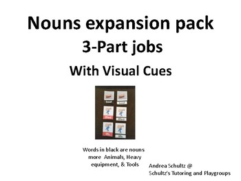 3-part cards Nouns and verbs expansion pack (Nouns Only)