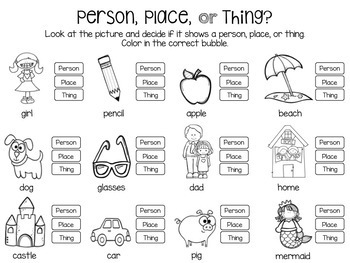 Primary Parts of Speech Activity Pack