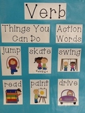 Nouns and Verbs Anchor Chart