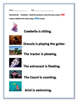 Nouns and Verbs--Circling and Underlining