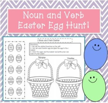 Nouns and Verbs Easter Egg Hunt!