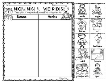 Nouns and Verbs Freebie