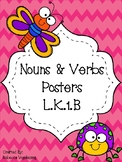 Nouns and Verbs Mini-Posters (Color + B&W)