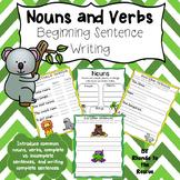 Nouns and Verbs - Parts of a Sentence - Beginning Sentence Writing
