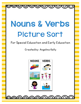 Nouns and Verbs File Folder Game