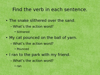 Nouns and Verbs Power Point