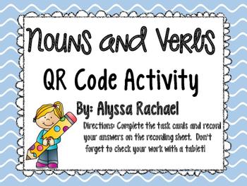 Nouns and Verbs QR Code activity