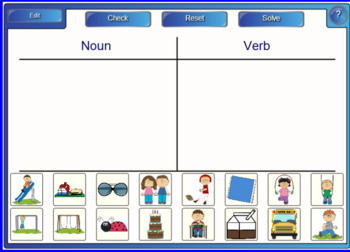 Nouns and Verbs Smartboard