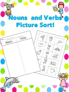 Nouns and Verbs Sort
