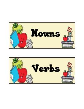 Nouns and Verbs Sort [Center Activity]