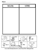 Nouns and Verbs Sort (Cut and Paste)