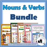 Nouns and Verbs Sorting Bundle – 5 Holiday & Seasonal Activities