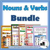 Nouns and Verbs Sorting Bundle – Fall Activities & Winter