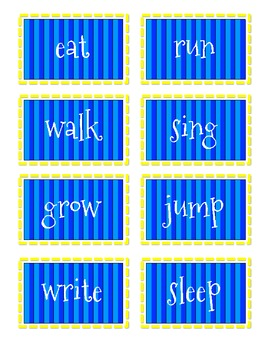 Nouns and Verbs Sorting Game Freebie