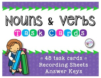 Nouns and Verbs *Task Cards*