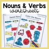 Nouns and Verbs Worksheets (Grammar/Parts of Speech)