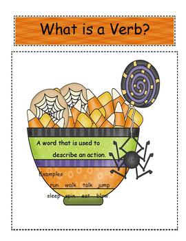 Nouns and Verbs for Halloween Time