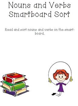 Nouns and Verbs smartboard sort.