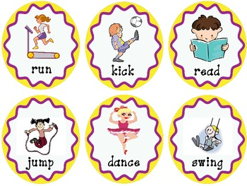 Nouns and Verbs sorting activity
