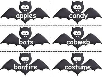 Nouns and Verbs with a Halloween Theme