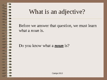 Nouns and adjectives lesson
