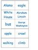 Nouns verbs sort ESL hands on center cut paste GT students COMMON CORE