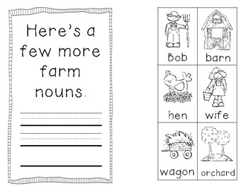 Nouns are Naming Words...On the Farm