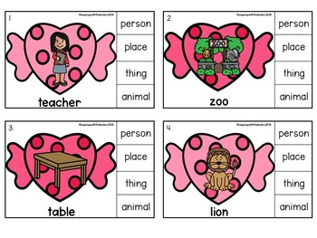 Nouns are Sweet Clip it with Recording Sheet!