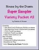 Nouns by the Dozen: Super Sampler Variety Packet #2