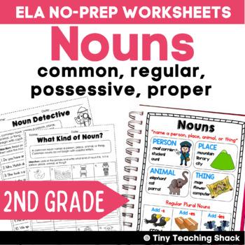 Nouns (common, regular, proper, possessive) Common Core NO PREP Practice Sheets