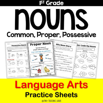 Nouns (common, proper, possessive) Common Core Practice Sheets L.1.1.B