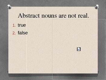 Nouns: concrete vs. abstract; possessive nouns