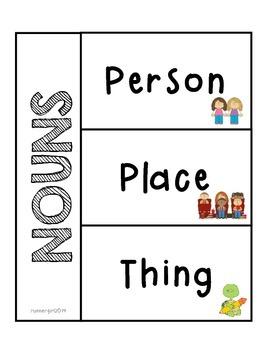 Grammar- Nouns for Interactive Notebooks