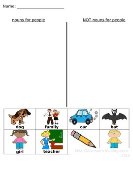 Nouns for People Sort