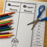 Free Nouns Worksheet - Cut and Paste Activity