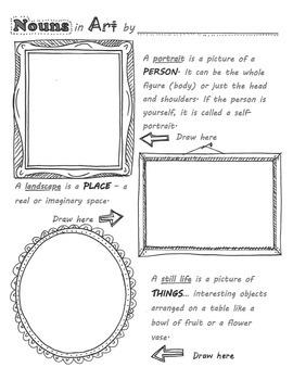 Nouns in Art worksheet for Elementary