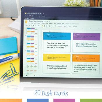Nouns Task Cards: 20 grammar task cards