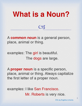 English Nouns in Nature