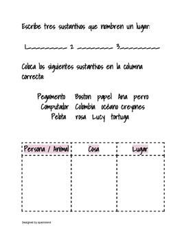 Nouns in Spanish (Sustantivos)