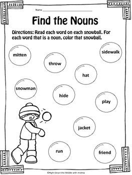 Nouns {Nouns Worksheets}