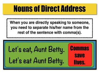 Poster - Nouns of Direct Address