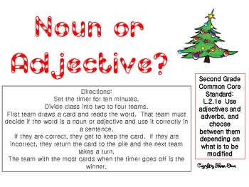 Nouns or Adjectives Game
